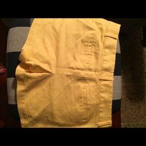 LOFT Shorts - Ann Taylor LOFT yellow shorts size 6